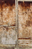 Gammal brun trädörr Royaltyfri Bild