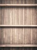 Gammal brun träplankatextur med shelfs stock illustrationer
