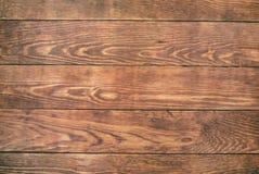 Gammal brun wood bakgrund, lantlig träyttersida med kopieringsutrymme Royaltyfria Bilder