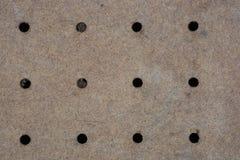 Gammal brunt för vanlig gammal vanlig sömlös corkboardbakgrund royaltyfri fotografi