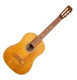 Gammal bruten gitarr Arkivfoton