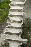 Gammal bruten konkret trappa upp Royaltyfri Bild