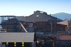 Gammal bryta fabrik Royaltyfri Bild