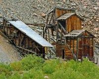 Gammal bryta struktur i Colorado Arkivfoto