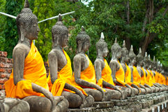 Gammal Buddha staty Arkivfoton