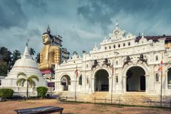Gammal buddistisk tempel i Dickwella, Sri Lanka arkivbilder
