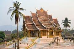 Gammal buddistisk tempel i Laos Arkivbilder