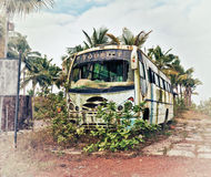 Gammal buss Arkivfoto