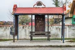 Gammal bussstation i Serbien Royaltyfria Foton