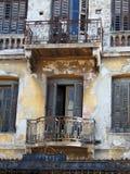 Gammal byggnad, Aten Arkivbilder