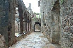 Gammal byggnad för spöke i Indien royaltyfri foto