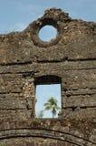 Gammal byggnad för spöke i Indien arkivfoto