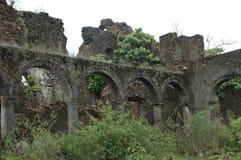 Gammal byggnad för spöke i Indien arkivfoton