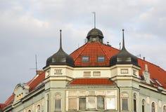 Gammal byggnad i Bielsko-Biala poland royaltyfria bilder