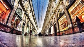 Gammal byggnad i Bryssel med härligt ljus Royaltyfri Foto