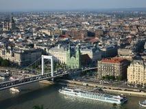 Gammal byggnad i Budapest, Ungern Arkivfoto