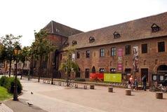 Gammal byggnad i Colmar, Alsace landskap Fotografering för Bildbyråer