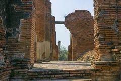 Gammal byggnad i den Ayutthaya staden av Thailand royaltyfri bild