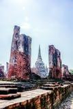 Gammal byggnad i den Ayutthaya staden av Thailand arkivbilder