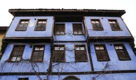 Gammal byggnad i den Cumalikizik byn, Bursa, Turkiet Royaltyfri Bild