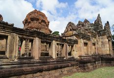 Gammal byggnad i Esan av Thailand Royaltyfri Fotografi