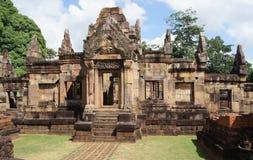 Gammal byggnad i Esan av Thailand Arkivbild
