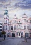 Gammal byggnad i Gdansk Royaltyfri Bild