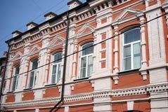 Gammal byggnad i historiskt centrum av samaraen, Ryssland Arkivbilder