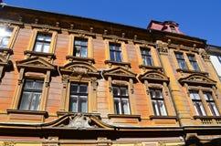Gammal byggnad i Ljubljana, Slovenien Royaltyfria Foton