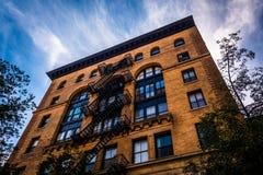 Gammal byggnad i Manhattan, New York Royaltyfri Fotografi