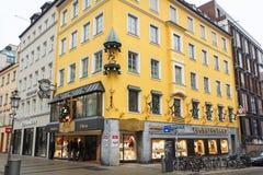 Gammal byggnad i Munich Fotografering för Bildbyråer