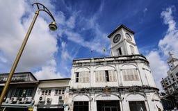 Gammal byggnad i Phuket Arkivbild