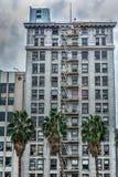 Gammal byggnad i i stadens centrum Los Angeles Arkivfoton