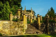 Gammal byggnad stiliserade för den historiska slotten, karakteristisk turr Arkivbilder
