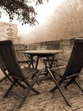 gammal cafe Arkivbild