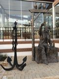 Gammal capitan staty Royaltyfri Bild