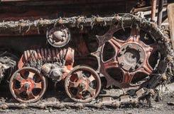 Gammal Caterpilar traktor Arkivbilder