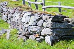 Gammal celtic stenvägg Royaltyfri Foto