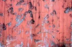 Gammal cementvägg, konstruktion för forntida buse för sten för designtexturbakgrund stark, röd konkret modell Arkivfoto