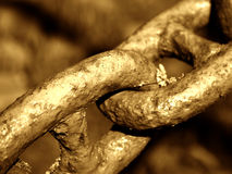 gammal chain detalj arkivfoton