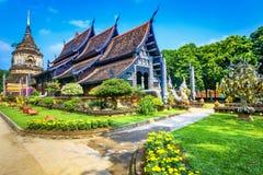 Gammal chedi och Wat Lok Moli tempel i Chiang Mai, Thailand Asien arkivfoto