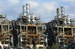 gammal chemical fabrik Royaltyfria Foton