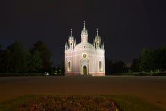 Gammal Chesme kyrka i natt petersburg saint Fotografering för Bildbyråer