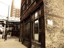 Gammal Chicago brandstation Royaltyfri Bild