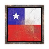 Gammal Chile flagga Royaltyfri Foto