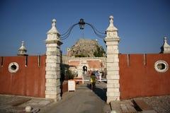 Gammal citadell i den Korfu staden (Grekland) Arkivbilder