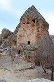 Gammal cloister i cappadokia arkivbilder