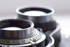 Gammal closeup för kameralins Arkivbild