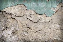 Gammal closeup för modell för tegelstenvägg med fragment av bokstäver Royaltyfri Foto