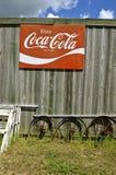 Gammal coca - colatecken Royaltyfri Bild